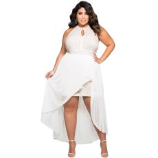 Fehér Lace plus size ruha