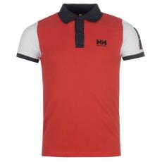 Helly Hansen Coordinate férfi galléros pamut póló piros XL