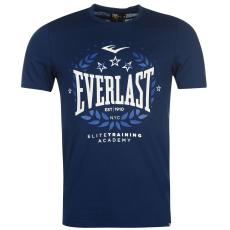 Everlast Logo férfi kereknyakú pamut póló tengerészkék 3XL