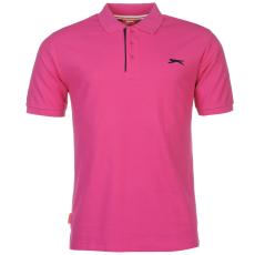 Slazenger Férfi galléros póló pink XS