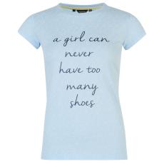 Requisite Slogan női póló világoskék L