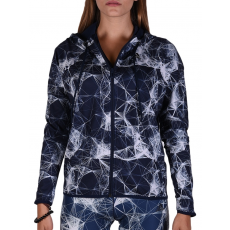 Adidas Gym Fz Hoodyaop Multco/conavy női cipzáras pulóver kék XL