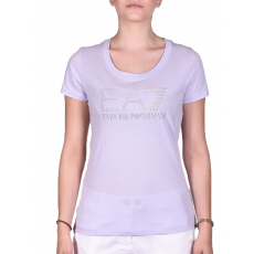 Emporio Armani Womans Knit Jersey női póló lila S