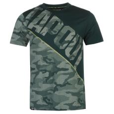 Tapout Camouflage Panel férfi póló türkiz L