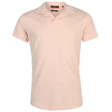 Pierre Cardin Open Neck férfi galléros póló rózsaszín M