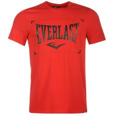Everlast Logo férfi kereknyakú pamut póló piros M