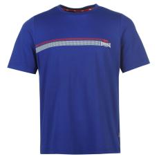 Lonsdale 2 Stripe férfi póló kék M