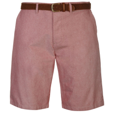 Pierre Cardin Oxford férfi rövidnadrág övvel piros XXL