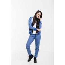 Dorko Basic Sweat Hoody Blue Marl női cipzáras pulóver kék XL