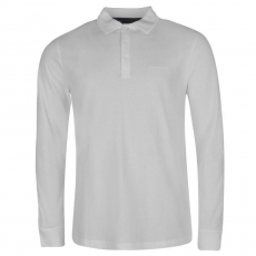 Pierre Cardin Férfi galléros hosszú ujjú póló fehér 3XL