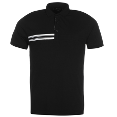 Kangol Taped férfi galléros póló fekete L