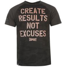 Tapout Results férfi póló fekete L
