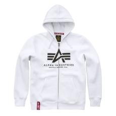 Alpha Indsutries Basic Zip Hoody - fehér
