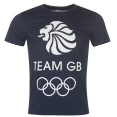 Team GB Logo férfi póló tengerészkék S