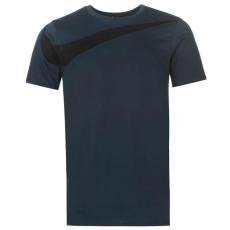 Nike Over Swoosh   férfi póló tengerészkék L