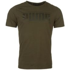 Puma Rebel Logo férfi póló barna S