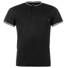 Pierre Cardin Pique Henley férfi póló fekete XL