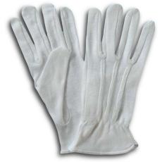 RBI fehér 100% Pamut Kesztyű (Textilkesztyű - Gumirozott kézhát)