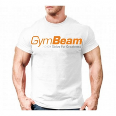 GymBeam Clothing Póló Greatness White Orange - GymBeam