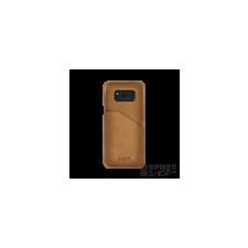BUGATTI Londra Samsung G955 Galaxy S8+ valódi bőr hátlap tok kártyatartóval, homok tok és táska