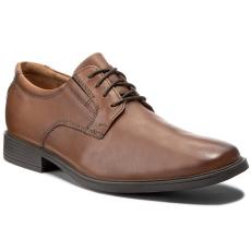 Clarks Félcipő CLARKS - Tilden Plain 261300977 Dark Tan Leather