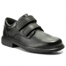 Clarks Félcipő CLARKS - Remi Pace Jnr 261268276 Black Leather