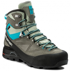Salomon Bakancs SALOMON - X Alp Mtn W GORE-TEX 398410 25 G0 Shadow/Castor Gray/Enamel Blue
