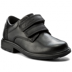 Clarks Félcipő CLARKS - Remi Pace Inf 261268286 Black Leather