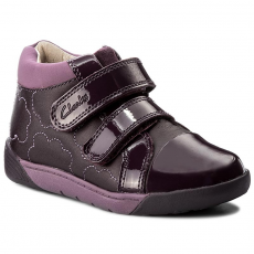 Clarks Bokacipő CLARKS - LilfolkEmy Pre 261218736 Plum Leather