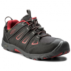 Keen Félcipő KEEN - Oakridge Low Wp 1015185 Black/Tango Red