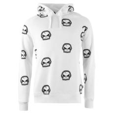 No Fear Forever Skull férfi kapucnis pulóver fehér XL