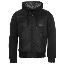 No Fear Lined férfi kapucnis cipzáras kabát fekete L