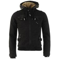 No Fear Férfi kapucnis cipzáras kabát fekete XL