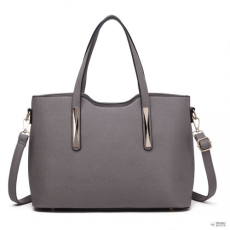 Miss Lulu London S1719 - Miss Lulu 2 darab bevásárló táska táska szürke