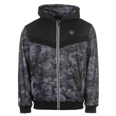 Everlast Premium férfi kapucnis cipzáras pulóver sötétszürke XL