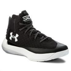 Under Armour Cipő UNDER ARMOUR - Ua Sc 3Zero 1298308-001 Blk/Wht/Wht