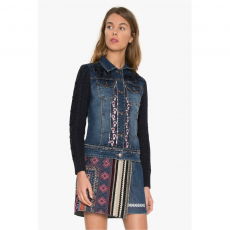 Desigual Chaq Exotic Utcai kabát,dzseki D (17WWED32-r_5161-Denim Medium Dark)