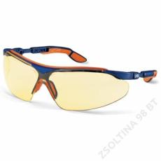 Uvex I-VO szemüveg, kék/narancs szár, sárga lencse