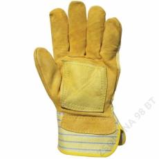 Euro Protection Bőrkesztyű, sárga marhahasíték/színbőr tenyérfolttal -10