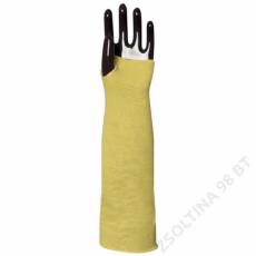 Euro Protection Kötött sárga kevlar karvédő, hő- és vágásbiztos, 45cm