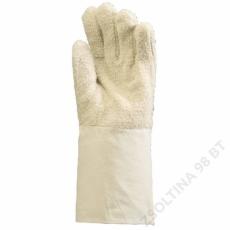 Euro Protection Hurkolt fehér pamutkesztyű, 100°c, 15 cm-es mandzsetta -10