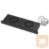 Lande LN-FAN-THM-2FFS-BL Ventilátor egység Álló rack szekrényhez 2 ventilátor Termosztáttal RAL9005 fekete