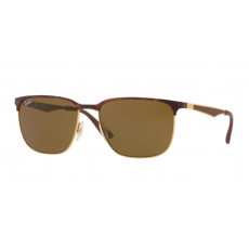 Ray-Ban RB3569 900873 GOLD TOP SHINY HAVANA DARK BROWN napszemüveg