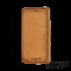 BUGATTI Parigi Samsung G950 Galaxy S8 valódi bőr flip tok kártyatartóval, homok