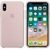 Apple iPhone X gyári szilikon hátlap tok, rózsakvarc, MQT62ZM/A