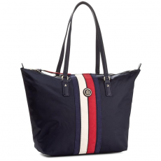 Tommy Hilfiger Táska TOMMY HILFIGER - Poppy Tote Corp Stripe AW0AW04589 901