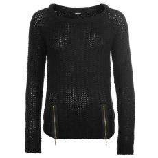 Golddigga Női cipzáras kötött pulóver fekete XL