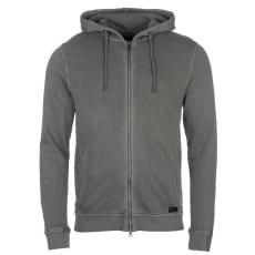 Firetrap G Dye férfi kapucnis cipzáras pulóver sötétszürke XL