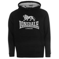 Lonsdale 2 Stripe férfi kapucnis pulóver fekete XL