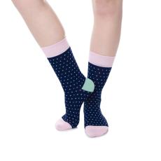 Wilky Pastel Dots Pink zokni többszínű
